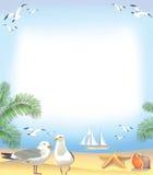 海滩框架海运 库存例证