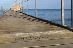 海滩桥梁 库存图片