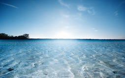 海滩梦想的场面 免版税库存照片