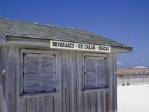 海滩棚子 库存照片