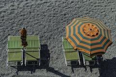 海滩概念节假日伞 库存照片