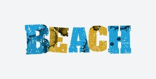 海滩概念被盖印的词艺术例证 库存照片