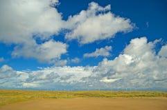 海滩横向天空 库存照片