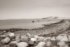 海滩横向海洋海运 库存图片
