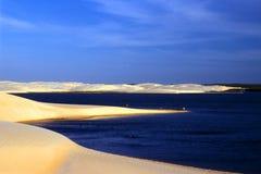 海滩横向海运 免版税库存照片
