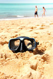 海滩横向 库存图片