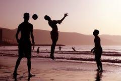 海滩橄榄球 免版税图库摄影