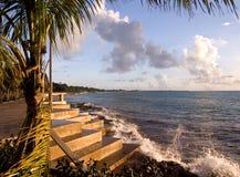 海滩步骤 免版税库存照片