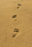 海滩步骤 免版税库存图片