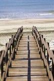 海滩步骤 图库摄影