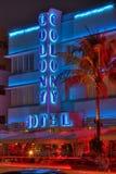海滩殖民地旅馆南的迈阿密 免版税库存照片