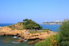海滩比亚利兹法国 免版税库存照片
