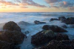 海滩比利时 免版税库存照片
