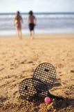海滩比赛 免版税库存图片