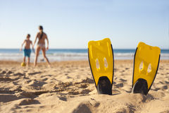 海滩比赛 库存照片