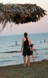 海滩比赛 免版税库存照片