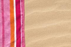 海滩毛巾 免版税库存照片