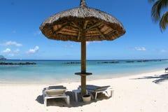 海滩毛里求斯 免版税库存图片