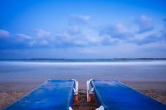 海滩水平放松 免版税库存图片