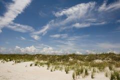海滩水平的场面 免版税库存图片