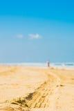海滩汽车线索 免版税库存图片