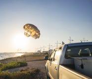 海滩汽车 图库摄影