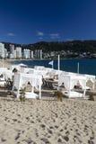 海滩沙发床 免版税库存照片