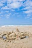 海滩沙堡 免版税库存照片