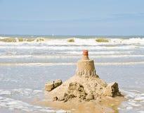 海滩沙堡 免版税库存图片