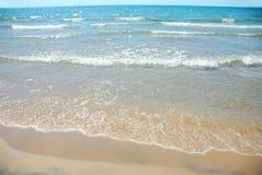 海滩沙波 图库摄影