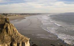 海滩沿海壳视图 库存图片