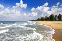 海滩沿海terengganu 免版税库存图片