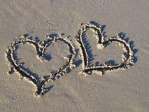海滩浪漫史 库存照片