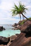 海滩海岛岩石similan泰国 免版税库存照片