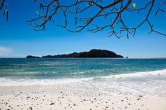 海滩海岛横向 免版税库存照片