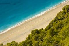 海滩海岛lefkada 免版税库存照片