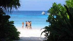 海滩海岛similan泰国 免版税库存图片