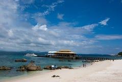 海滩海岛wuzhizhou 免版税库存图片