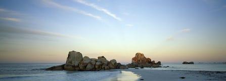 海滩海岸东部塔斯马尼亚岛 免版税库存图片