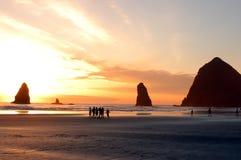 海滩海岸俄勒冈视图 免版税库存图片
