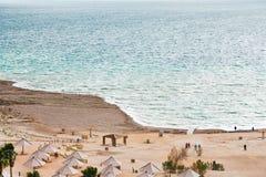 海滩海岸停止的沙子海运 库存照片