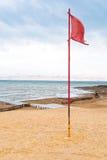 海滩海岸停止的沙子海运 免版税库存图片