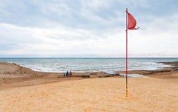 海滩海岸停止的沙子海运 免版税图库摄影