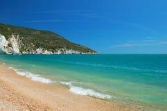海滩海岸横向 免版税库存图片