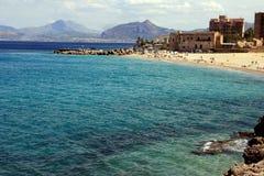 海滩海岸海岛西西里岛 免版税库存照片