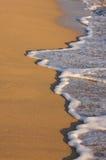 海滩海岸线洗涤 免版税库存照片