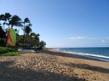 海滩海岸线kaanapali 图库摄影