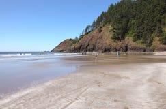 海滩海岸ecola印第安俄勒冈公园状态 免版税库存图片