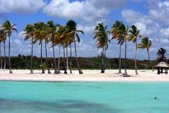 海滩海洋全景 免版税图库摄影