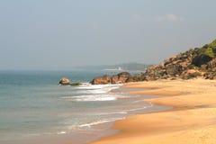 海滩海洋石头 库存图片